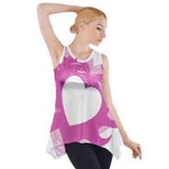 Hot Pink Love Side Drop Tank Tunic