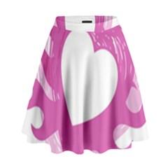 Hot Pink Love High Waist Skirt