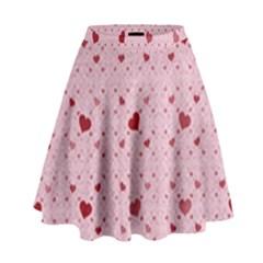 Heart Squares High Waist Skirt