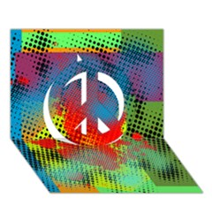 Tiling Lines 5 Peace Sign 3d Greeting Card (7x5)