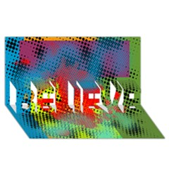 Tiling Lines 5 BELIEVE 3D Greeting Card (8x4)