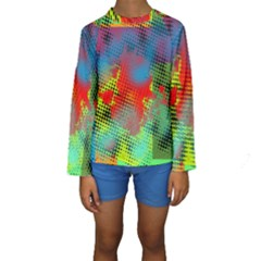 Tiling Lines 5 Kid s Long Sleeve Swimwear