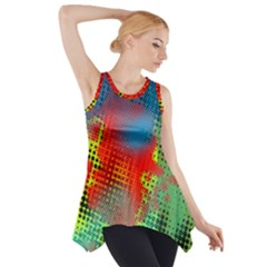 Tiling Lines 5 Side Drop Tank Tunic