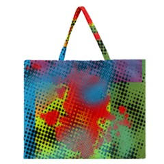 Tiling Lines 5 Zipper Large Tote Bag
