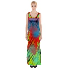 Tiling Lines 5 Maxi Thigh Split Dress