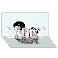 Inconceivable SORRY 3D Greeting Card (8x4)