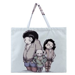 Inconceivable Zipper Large Tote Bag
