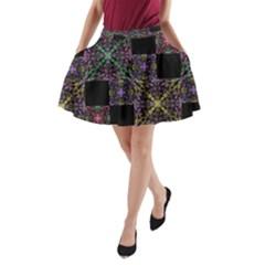 Ornate Boho Patchwork A Line Pocket Skirt