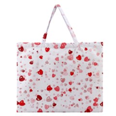 Bubble Hearts Zipper Large Tote Bag