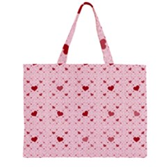 Heart Squares Large Tote Bag