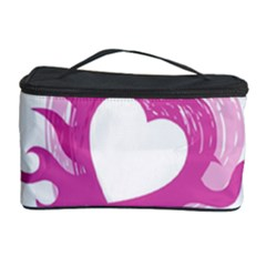 Hot Pink Love Cosmetic Storage Case