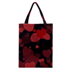 Red Hearts Classic Tote Bag