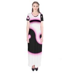 Yin Yang Glow Short Sleeve Maxi Dress