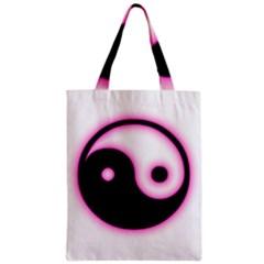 Yin Yang Glow Zipper Classic Tote Bag