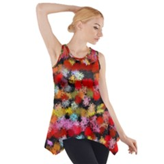 Colorful brush strokes                                             Side Drop Tank Tunic