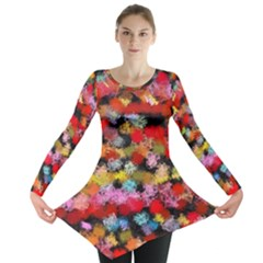 Colorful Brush Strokes                                             Long Sleeve Tunic