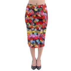 Colorful Brush Strokes                                               Midi Pencil Skirt
