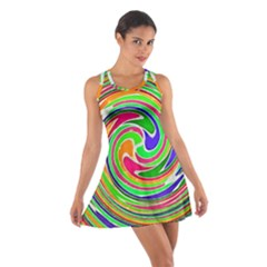 Colorful whirlpool watercolors                                                Cotton Racerback Dress