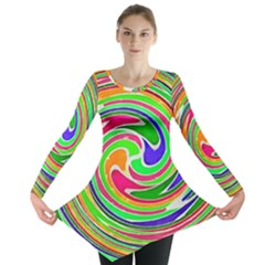 Colorful Whirlpool Watercolors                                                Long Sleeve Tunic
