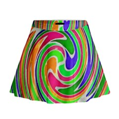 Colorful whirlpool watercolors                                                  Mini Flare Skirt