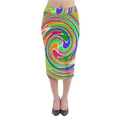 Colorful Whirlpool Watercolors                                                  Midi Pencil Skirt