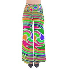 Colorful Whirlpool Watercolors                               Women s Chic Palazzo Pants