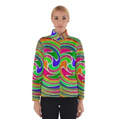 Colorful Whirlpool Watercolors                                                Winter Jacket