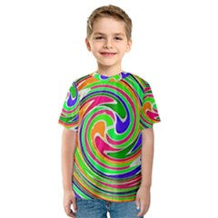 Colorful whirlpool watercolors                                                Kid s Sport Mesh Tee