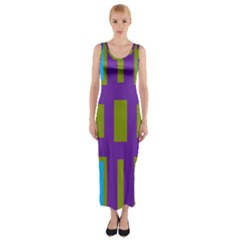 Angles And Shapes                                                 Fitted Maxi Dress