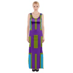 Angles and shapes                                                 Maxi Thigh Split Dress