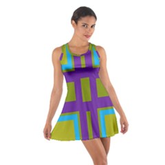 Angles and shapes                                                 Cotton Racerback Dress