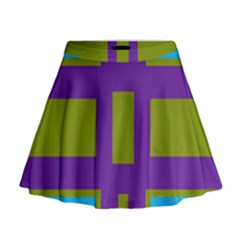 Angles And Shapes                                                   Mini Flare Skirt