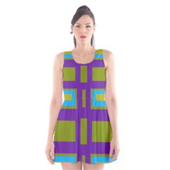 Angles and shapes                                                 Scoop Neck Skater Dress