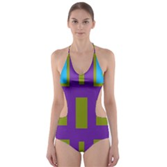 Angles And Shapes                                                 Cut Out One Piece Swimsuit