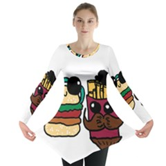 Burger And Fries Long Sleeve Tunic