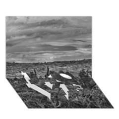 Ecuador Landscape Scene At Andes Range LOVE Bottom 3D Greeting Card (7x5)