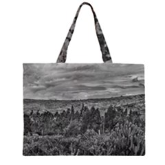 Ecuador Landscape Scene At Andes Range Zipper Large Tote Bag