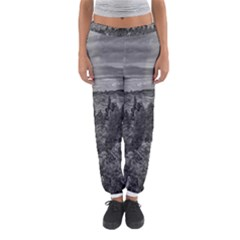 Black And White Landscape Scene Women s Jogger Sweatpants