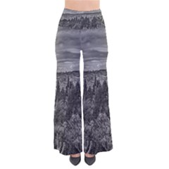 Black And White Landscape Scene Pants