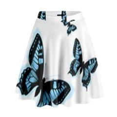 Butterflies High Waist Skirt