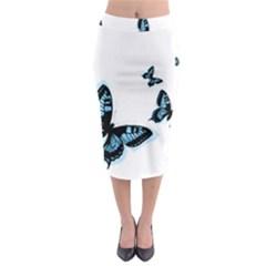 Butterflies Midi Pencil Skirt