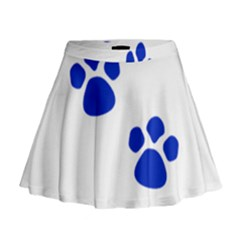 Blue Paws Mini Flare Skirt