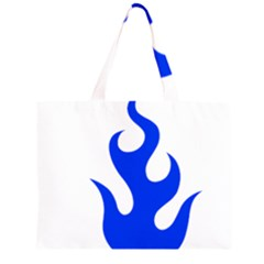 Blue Flames Large Tote Bag