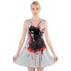 Bangarang V Neck Sleeveless Skater Dress