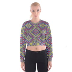 Colorful Duck Women s Cropped Sweatshirt
