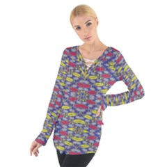 Colorful Duck Women s Tie Up Tee