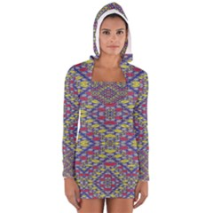 Colorful Duck Women s Long Sleeve Hooded T-shirt