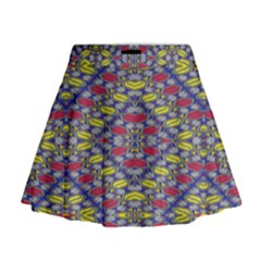 Colorful Duck Mini Flare Skirt