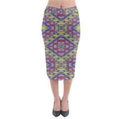 Colorful Duck Midi Pencil Skirt