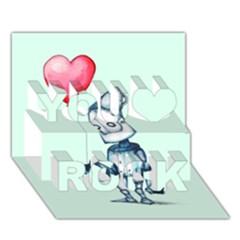 Tin Man You Rock 3D Greeting Card (7x5)